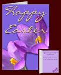 Easter Cards Spring Flowers Cards Personalized Crocus Cards