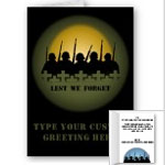 Fallen Soldier Cards Personlized Lest We Forget Cards Veterans Memorial