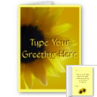 Sunflower Cards Customized Greeting Cards Cheerful Sunflower Cards
