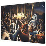 Dancing Bears Painting Prints on Canvas