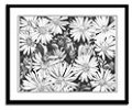  Flowers Sketch Framed Art Print Flowers Daisies Art Drawing -Daisies &amp; Honey Bee Fine Art  Framed Prints, Posters, Prints, Landscape Painting Framed Prints greeting cards, calenders,mousepads, journals &amp; gifts