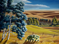 Alberta Foothills Canadian Landscape Painting Prints & Posters