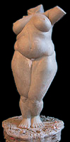 Sculpture female figure Sculpture Full figured female nude Clay Maquette for bronze CLICK ON IMAGE FOR DETAIL