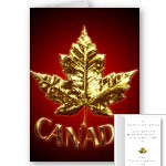 New Personalized Gold Medal Canada Cards Cool Metal Canada Maple Leaf Cards