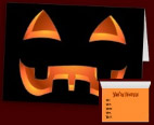 Classic Jack-O-Lantern Halloween Party Invitations Custom Halloween Cards