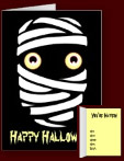 Fun Mummy Cards Personalized Halloween Invitations