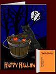 Classic Halloween Invitations Cards Custom Bobbing for Apples Cards