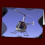 Helicopter Greeting Cards Flying Chopper Cards