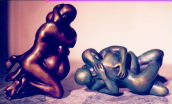 man & Woman , Hug, Sculpture 2 Nude Figures Hug Embrace Made to Order- specify colour CLICK ON IMAGE FOR DETAIL