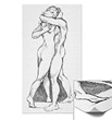 Hugs Poster - Loving Embrace Figure Study Drawing Intimate Love Art Print Hugging Lovers Art Posters & Print Nude Figure Study Poster Black and White Lovers Pencil Drawing Posters and Prints, Personalized Hug Art Cards and Gifts
