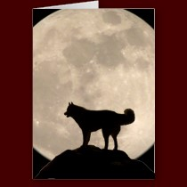 Custom Husky Greeting Cards Siberian Malamute Card