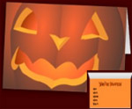 Halloween Cards Jack-o-lantern Invitation Custom Halloween Cards