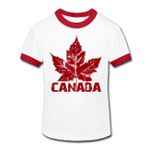 Kid's Canada Souvenir T-shirt Boy's and Girl's Trendy Retro Canada Souvenir Shirts Kid's Canada T-shirts New Organic Kid's Canada Shirts