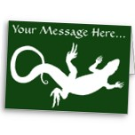 Lizard Art Cards Personalized Message Reptile Greeting Card