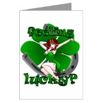 St. Patrick's Greeting Cards Lucky Irish Pinup Cards for Men Women Boys Home & Office Cards for Birthdays Lucky Irish Invitations Card Art & Design Retro Sexy Pinup Lucky St. Patrick's Shamrock Cards St. Patrick's Day Cards & Gifts Online