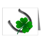 Lucky Shamrock Greeting Cards Lucky Irish Greeting Cards for Men Women Boys Girls Lucky Horseshoe & 4 Leaf Clover Cards for Birthdays Invitations Irish Luck Card Art & Design Lucky St. Patrick's Shamrock Cards St. Patrick's Day & Irish Luck Cards & Gifts Online