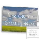 Inspirational Cards Personalized Landscape Cards Custom or Blank  Manitoba Pairie Cards