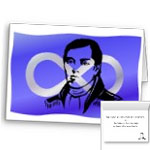 Metis Flag Cards First Nations Historical Metis Leader Cuthbert Grant Cards Blank or Custom