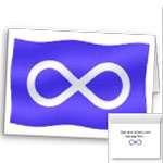 Metis Flag Cards First Nations Flag Cards Blank or Personalized Metis Flag Cards