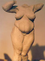 female figure Sculpture Full figured female nude Clay Maquette for bronze CLICK ON IMAGE FOR DETAIL