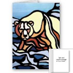 New Native Art Bear Cards Personalized or Blank Wildlife Art Greeting Cards