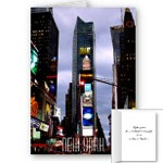 New York Cards Personalized Times Square City Lights New York Greeting Cards