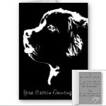 Newfoundlander Dog Cards Blank or Personalized Cards Newfoundlander Dog Art Cards