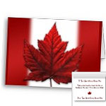New Canada Flag Cards Personalized or Blank Canada Souvenir Greeting Cards