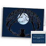 New Cat Cards Personalized Black Cat Art Cards & Black Cat Party Invitations Customize