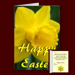 Easter Cards Personalized Easter Daffodil Flowers Blank or Custom Easter Cards