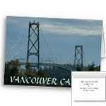 Vancouver Lions Gate Bridge Cards Vancouver Landscape Cards Personalized or Blank
