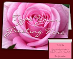 Pink Rose Cards Custom Rose Cards Personalized