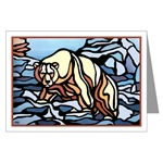 Original Polar Bear Art /Design greeting Card