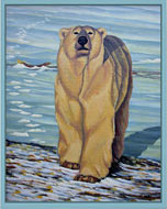 Polar Bear Prints & Posters Canadian Wildlife Painting Prints