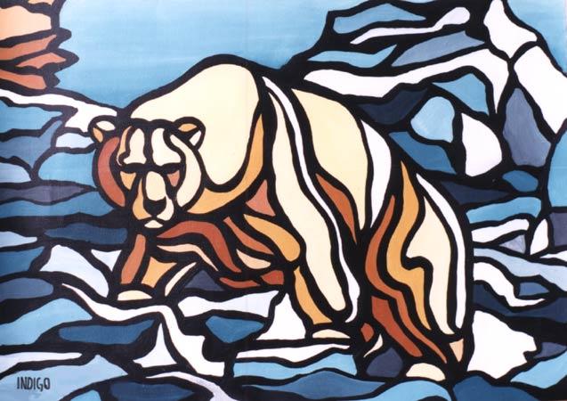 Polar Bear Paintings Arctic Canadian Arctic Landscape