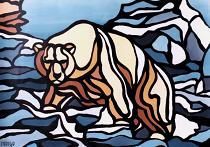 polar bear painting Stain glass polar bear paintingclick on Image for detail