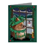 Christmas Pomeranian Note Cards Fun Dog Note Cards
