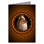 New Pomeranian Greeting Cards Small Dog Art Cards, Postcards & Gifts