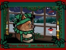 Free Animated Christmas Card  Singing puppy happy holidays custom animated e--cards