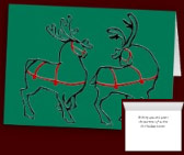 Classic Christmas Cards Reindeer Cards Seasons Greetings Cards Custom