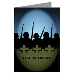Lest We Forget Greeting Cards Packof 10 War & Peace