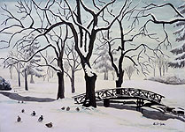 Stanley Park Landscape painting Vancouver Winter West End in Winter Landscape Painting Original Vancouver landscape, wildlife painting by Canadian Artist Kim Hunter / Indigo Commissioned paintings welcome!