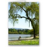 Weeping Willow Thank You Card Blank Cards