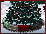 Custom animated e-cards toy train Christmas e-card