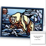 Personalized Art Cards Tribal Bear Art Cards Custom or Blank First Nations Greeting Cards Bear Art Greeting Cards
