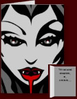 Cool Vampire Cards Personalized Halloween Invitations
