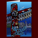 Vancouver Greeting Cards Canada Totem Pole Landmark Cards & Gifts