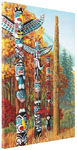 First Nations Totem Poles Painting Prints on Canvas