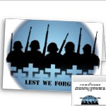 Lest We Forget Cards Personlized Fallen Soldier Cards War / Peace Cards