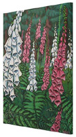Wildflowers Foxglove Painting Prints on Canvas